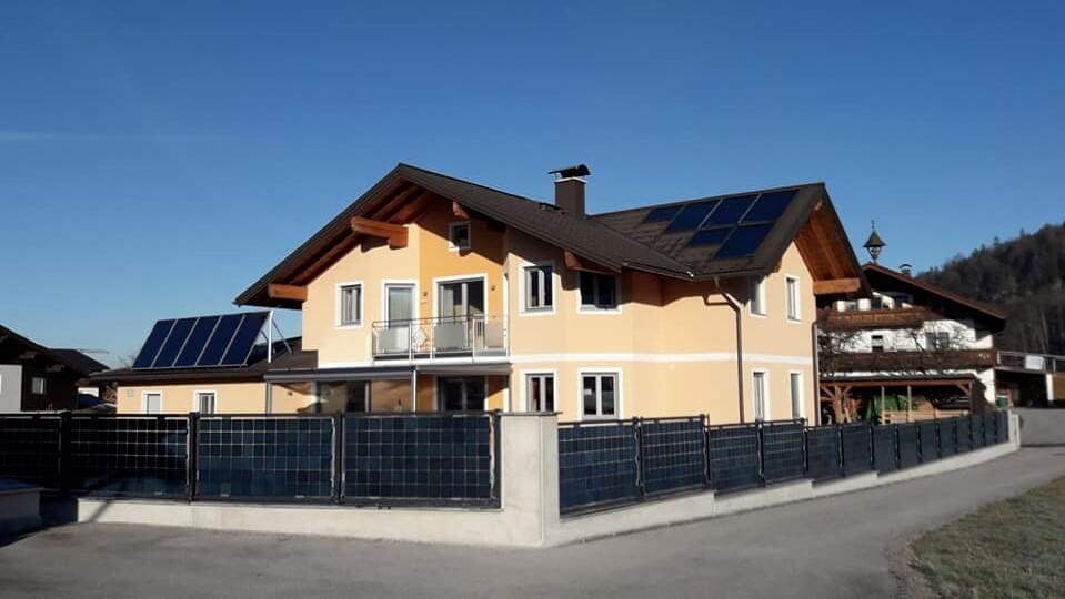 Solar fence in Adnet, Autria