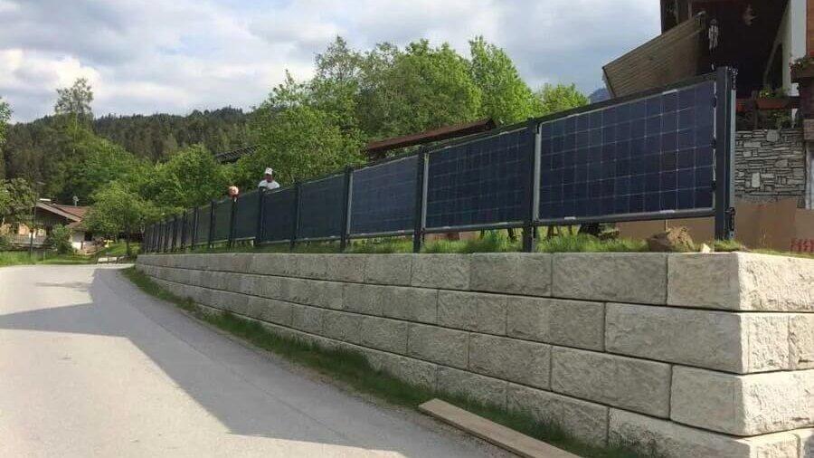Solar fence in Scheffau am Wilden Kaiser, Austria