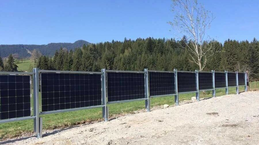Solar Fence in Reith bei Kitzbühel, Austria