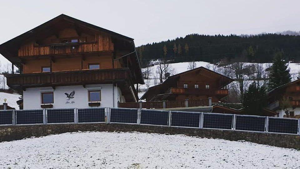 Solar fence in Alpbach, Austria