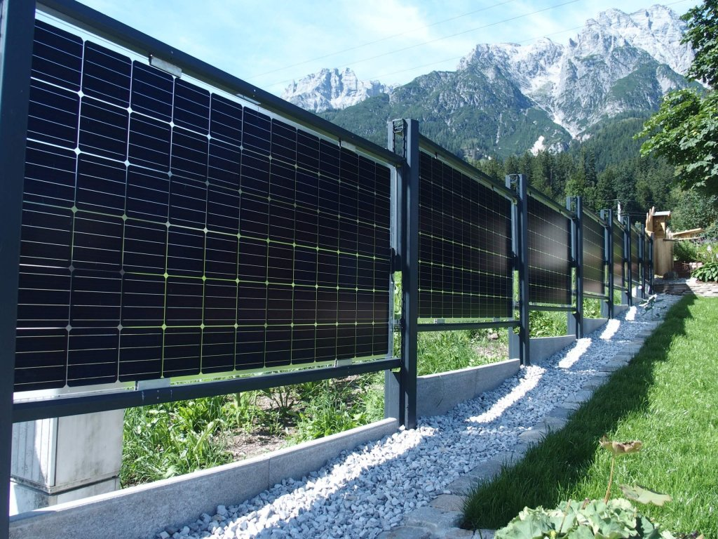 Bifacial Solar fence for domestic applications