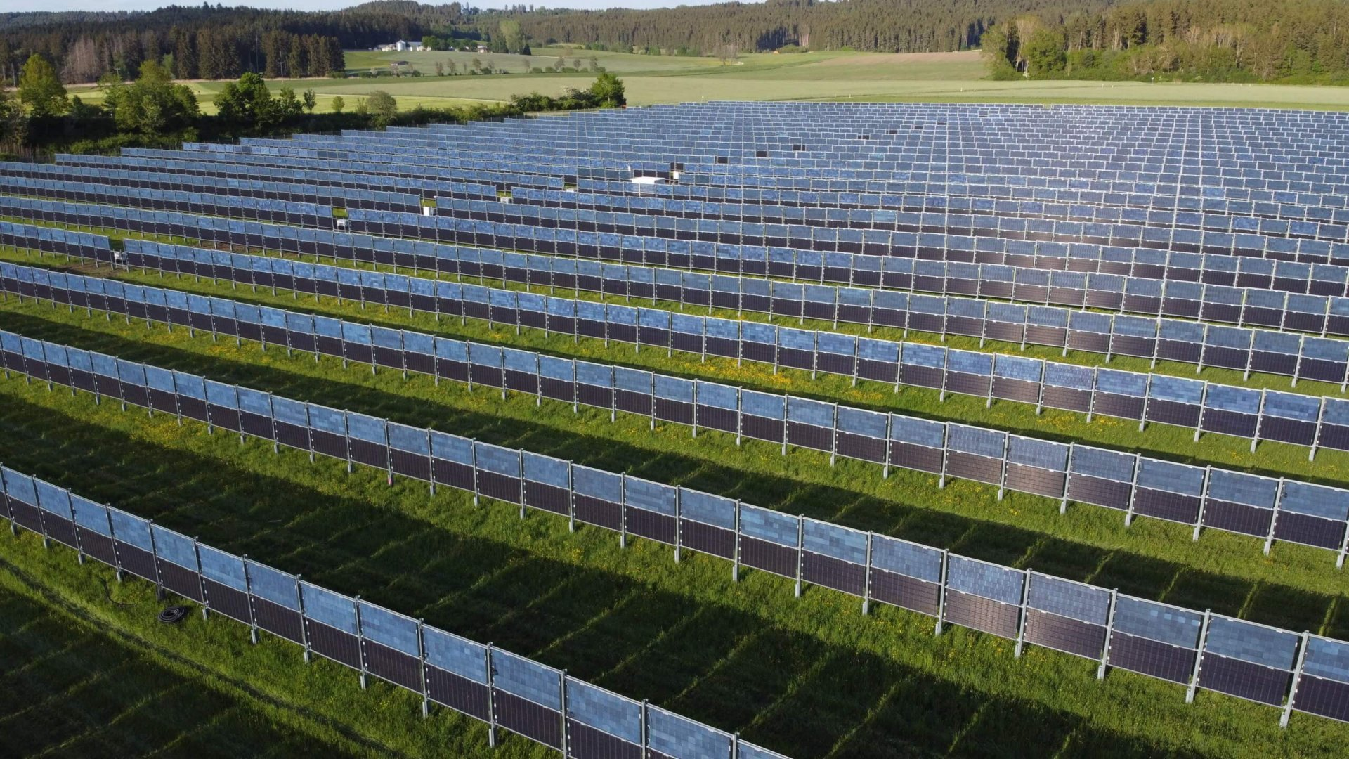 Solar farm Aasen-Donaueschingen (Baden-Württemberg, South Germany